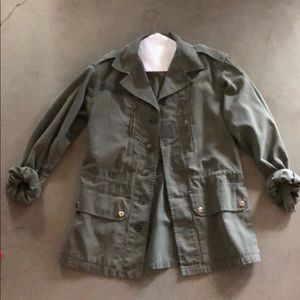 Green military style jacket from urban outfitters